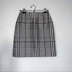 White House Black Market • plaid boot skirt